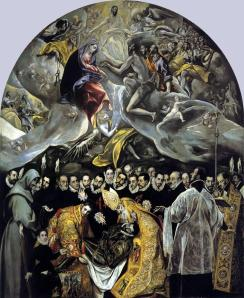 El entierro del señor de Orgaz El Greco, 1587 Óleo sobre lienzo 480 cm × 360 cm