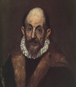 Retrato de un caballero anciano (Autorretrato) El Greco,1595-1600 Óleo sobre lienzo 52.7 x 46.7 cm